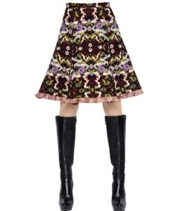 Andrew Gn | Wool Cotton Jacquard Skirt