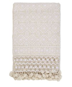 ANIZA | Nah Hand-Embroidered Wool Throw