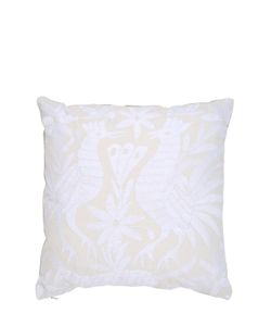 ANIZA | Oto Hand-Embroidered Feather Pillow