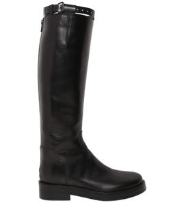 Ann Demeulemeester | 30mm Brushed Leather Riding Boots