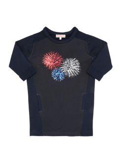 ANNE KURRIS | Fireworks Sequin Cotton Sweatshirt Dress