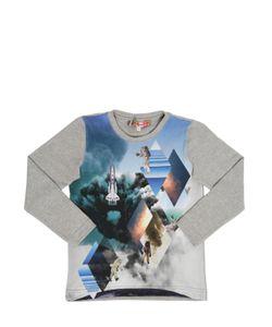 ANNE KURRIS | Space Shuttle Printed Cotton T-Shirt