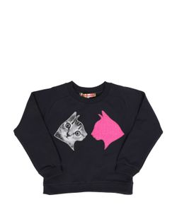 ANNE KURRIS | Cat Patches Cotton Sweatshirt