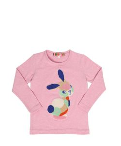 ANNE KURRIS | Bunny Terrycloth Patch Cotton T-Shirt