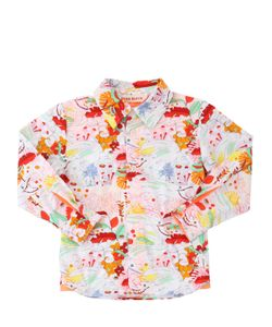 ANNE KURRIS | Frog Printed Cotton Poplin Shirt
