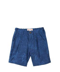 ANNE KURRIS | Printed Cotton Gabardine Shorts