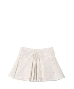ANNE KURRIS | Perforated Faux Leather Mini Skirt
