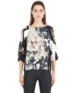ANNE SOFIE MADSEN | Printed Silk Crepe De Chine Top