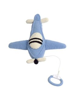ANNE-CLAIRE PETIT | Hand-Crocheted Airplane With Music Box