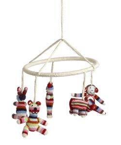 ANNE-CLAIRE PETIT | Hand-Crocheted Crib Mobile With Animals