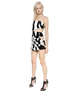 Anthony Vaccarello | Strapless Coated Crepe Dress