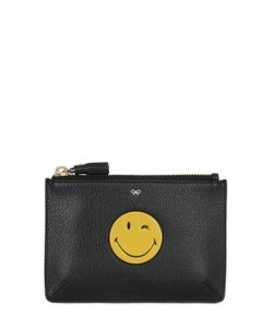 Anya Hindmarch | Wink Smiley Embossed Leather Pouch