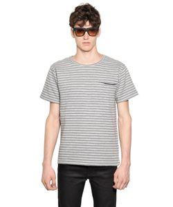 April 77 | Striped Cotton Blend Jacquard T-Shirt