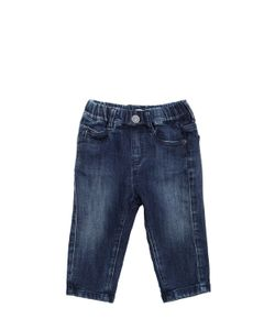 Armani Junior | Effect Cotton Fleece Jeans