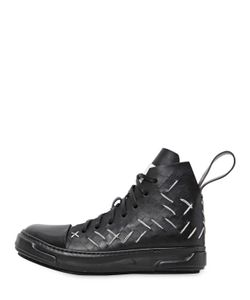 ARTSELAB | Stitch Slit Leather High Top Sneakers