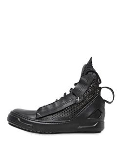 ARTSELAB | Perforated Leather High Top Sneakers