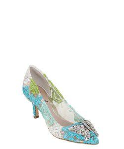 ARUNA SETH | 50mm Swarovski Butterfly Lace Pumps