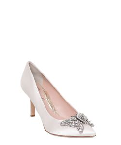 ARUNA SETH | 70mm Swarovski Butterfly Silk I Pumps