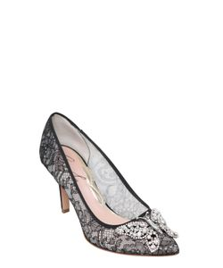 ARUNA SETH | 70mm Swarovski Butterfly Lace Pumps
