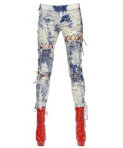 Ashish | Lace-Up Washed Studded Denim Jeans
