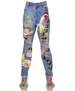 Ashish | Embellished Destroyed Denim Jeans