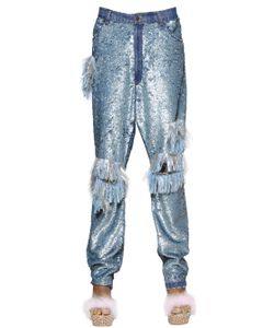 Ashish | Sequined Fringed Cotton Pants