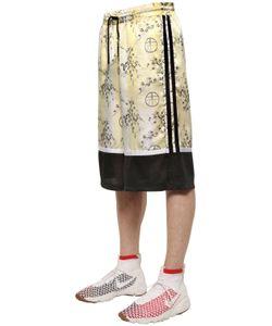 Astrid Andersen | Blossom Printed Satin Mesh Shorts