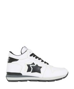 ATLANTIC STARS | Leather High Top Sneakers