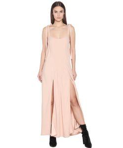 ATTICO | Crepe Envers Satin Slip Dress With Ties