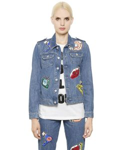 Au Jour Le Jour | Embellished Patch Cotton Denim Jacket