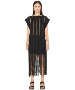 Aviù | Fringed Rope Effect Cotton On Mesh Top