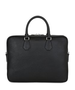 Bally | Pebbled Leather Briefcase