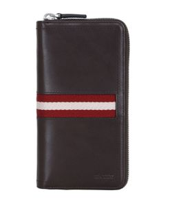 Bally | Webbing Leather Zip Around Wallet