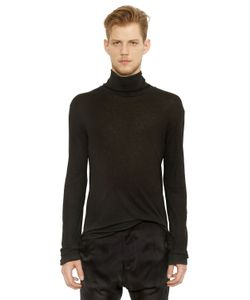 Balmain | Micro Ribbed Jersey Turtleneck T-Shirt