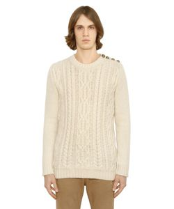 Balmain | Mohair Blend Cable Knit Sweater