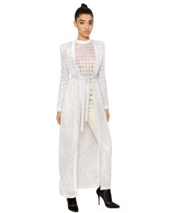 Balmain | Arabesque Jacquard Knit Long Cardigan