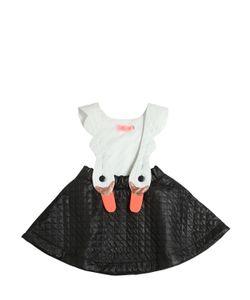 BANGBANG COPENHAGEN | Quilted Doubled Nylon Skirt W/Suspenders