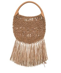 Barbara Bonner | Ravel Fringed Woven Leather Bag
