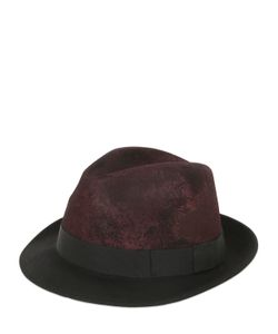 BARBISIO | Rubberized Wool Felt Trilby Hat