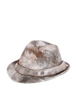 BARBISIO | Painted Wool Felt Trilby Hat