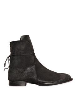 BARNY NAKHLE | Coated Leather Lace Up Boots
