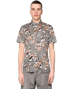 BASSO&BROOKE STUDIO | Digital Print Cotton Blend Shirt