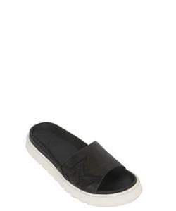 BB BRUNO BORDESE WASHED | Embroidered Star Leather Slide Sandals