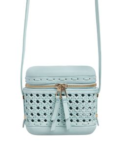 Benedetta Bruzziches | Little Picnic Woven Leather Shoulder Bag