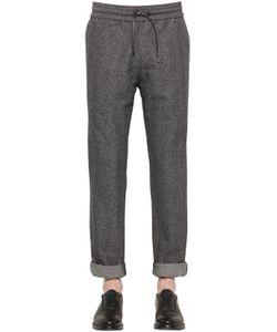 BERNARDO GIUSTI   Cotton Wool Herringbone Pants