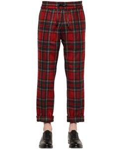 BERNARDO GIUSTI | Plaid Wool Gabardine Jogging Pants
