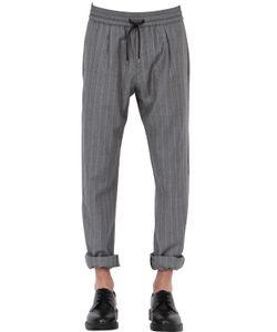 BERNARDO GIUSTI | Pinstriped Wool Jogging Pants