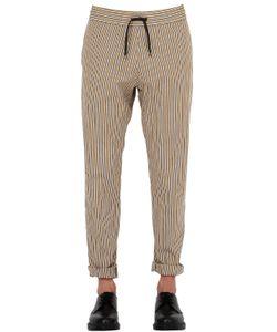 BERNARDO GIUSTI | Striped Cotton Canvas Jogging Pants