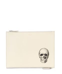 BERTONI 1949 | Hand-Painted Skull Leather Pouch