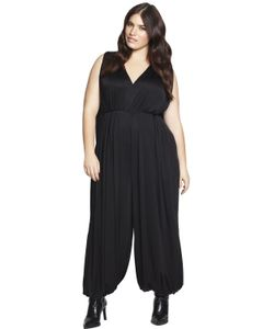 BETH DITTO | Draped Silk Jumpsuit